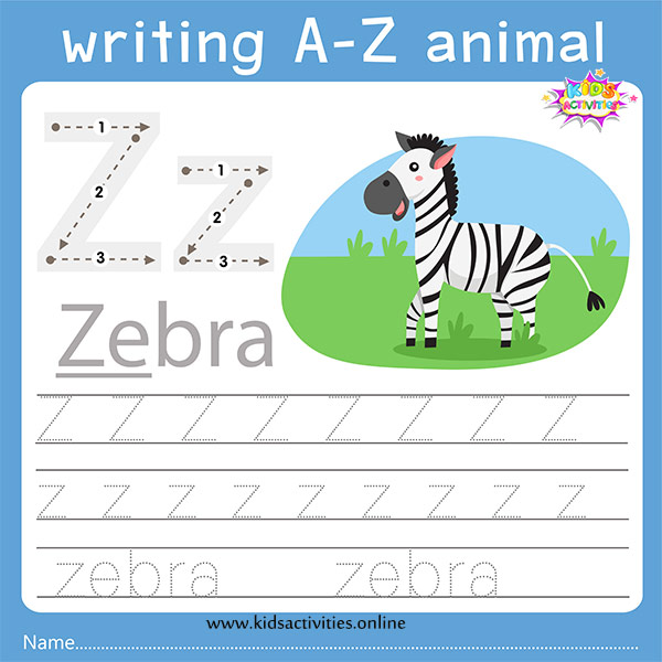 Tracing letters z