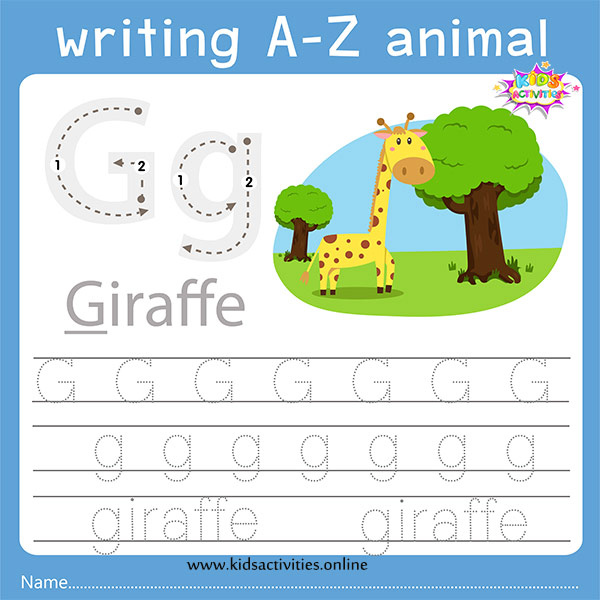 Tracing letters g