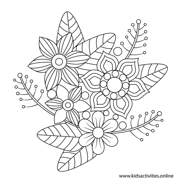 Coloring in page for adults