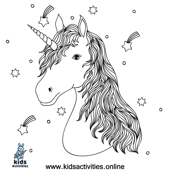 Unicorn coloring pages for adults worksheet