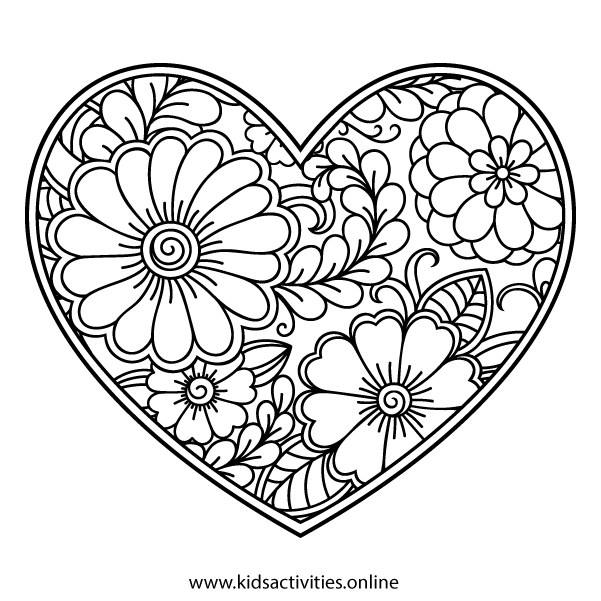 Coloring book for adults flowers