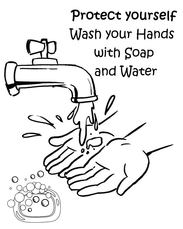 Free printable hygiene coloring pages