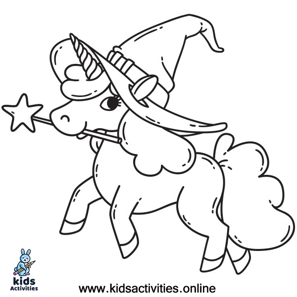 Free Coloring Pages For Unicorns