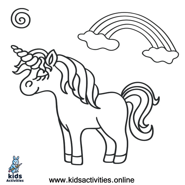 Fantasy unicorn coloring pages free