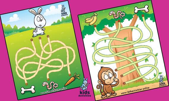 Education maze game for kids | free printable