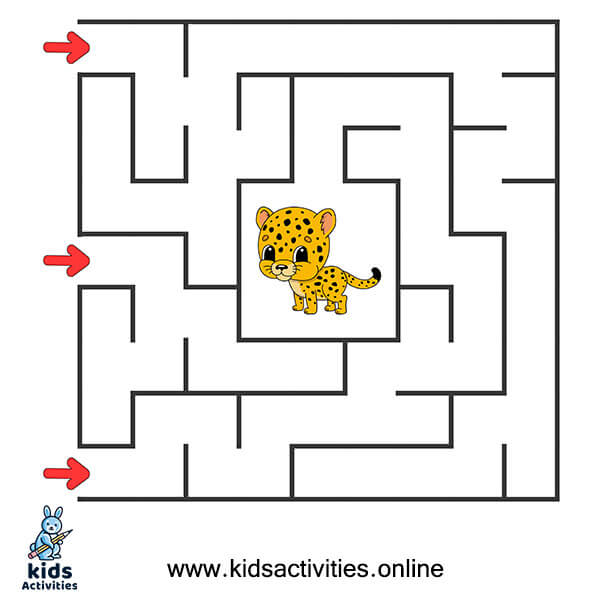 Beginner Easy mazes for kids printable for kids