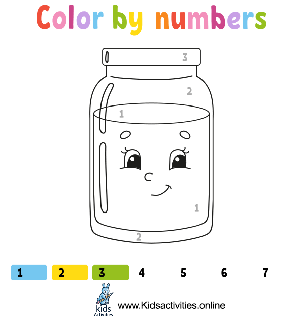 Coloring book by numbers