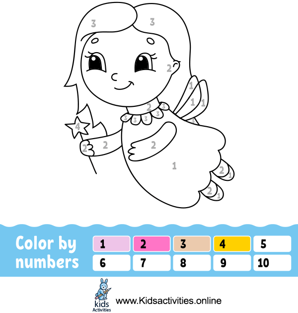 Free Coloring By Numbers Printable For Preschoolers