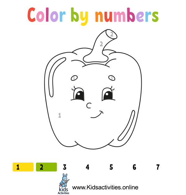 Easy coloring by numbers for kids