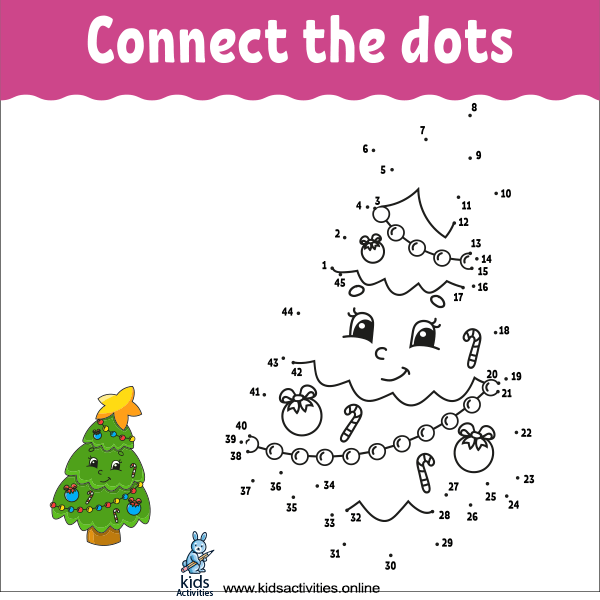 Connect the dots kindergarten printable