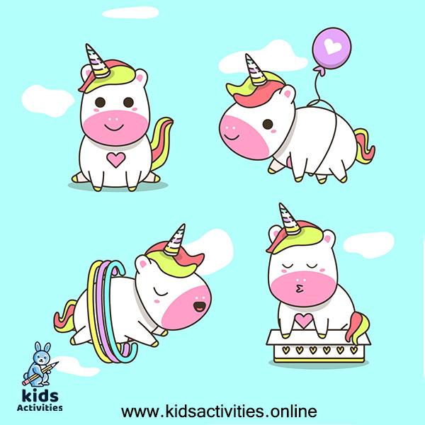 Doodle drawings unicorn