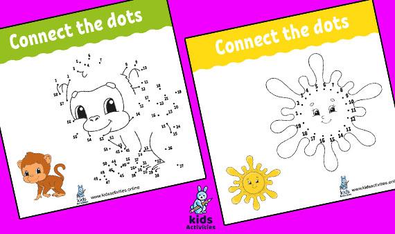 Dot to dot game For Kids !! Free Printables