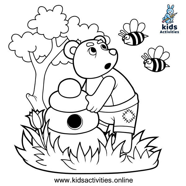 Animal printable - bear coloring book