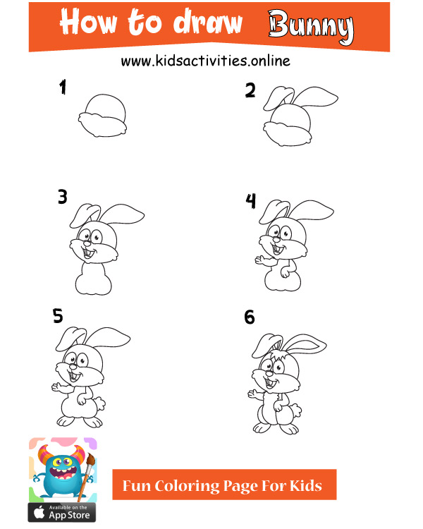 How To Draw Animals For Kids Step By Step bunny