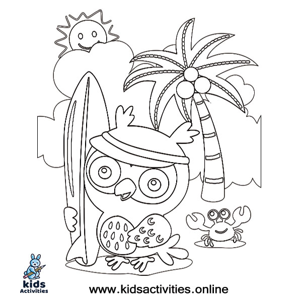 Summer coloring sheets preschool