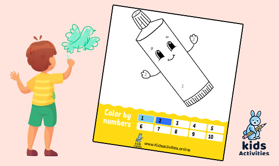 Easy coloring by numbers for kids - Coloring Book