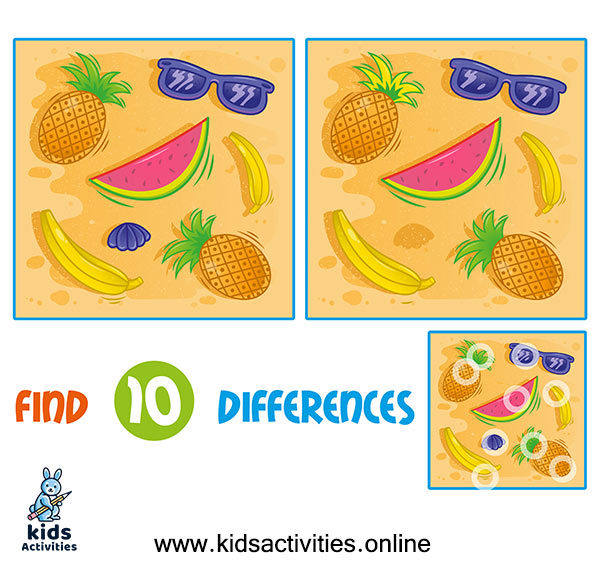 Free spot the differences printable