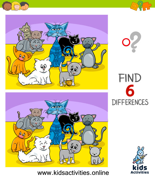 Free printable spot the difference puzzles for kids