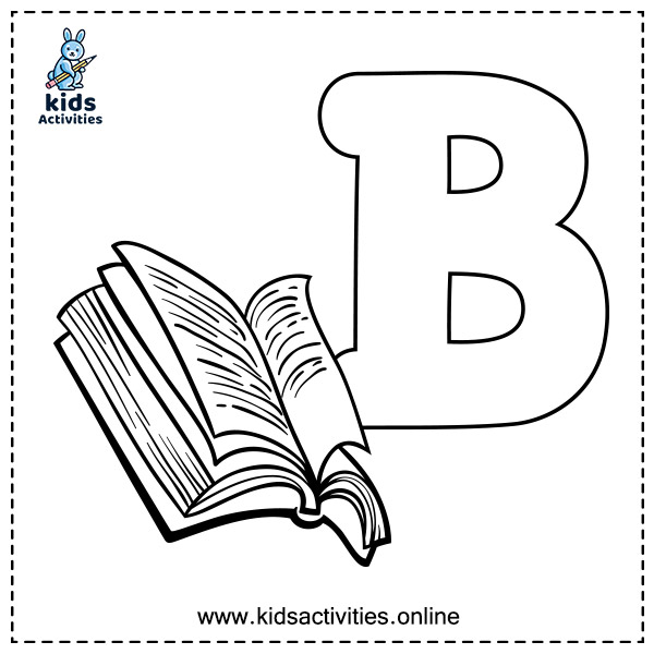 abc coloring pages printable - letter B
