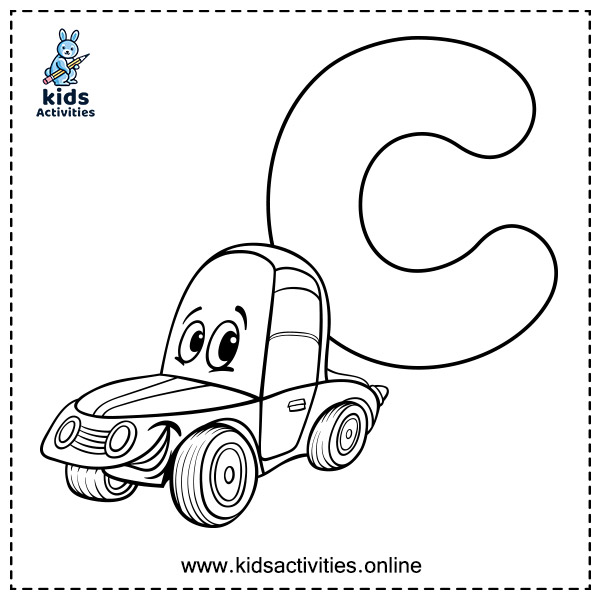 Free printable alphabet pages - letter c