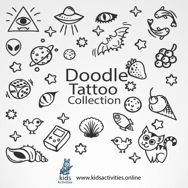 Doodle Tattoo - fun doodles patterns