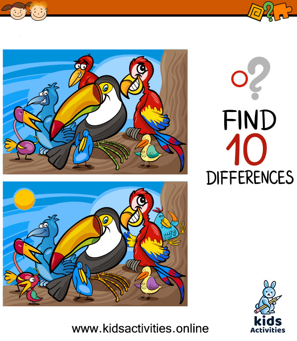 Find the difference between two images for kids
