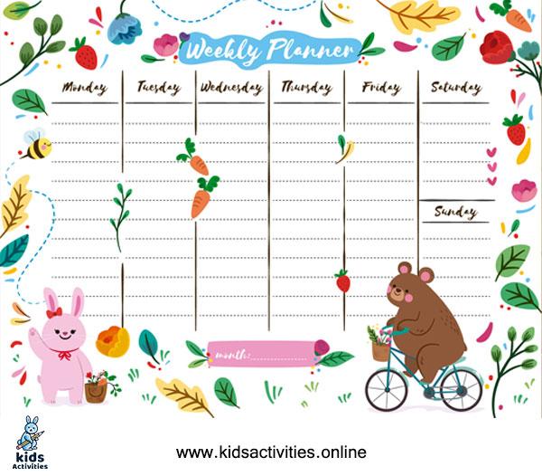 Weekly planner printable pdf