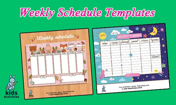 Cute Weekly Schedule Template Printable