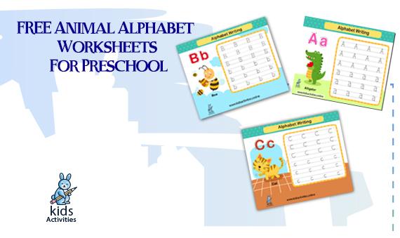 FREE Animal Alphabet Worksheets for Kindergarten