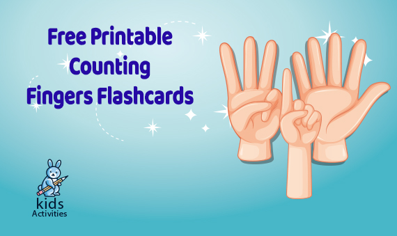 Free! Printable Counting Fingers Flashcards, Number Cards