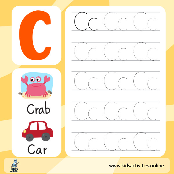 Capital and Small Letters Worksheet - tracing