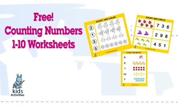 Free Counting Numbers 1-10 Printable Worksheets