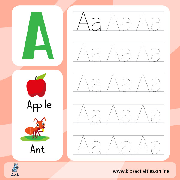 Alphabet worksheets a z - Tracing worksheets for preschoolers