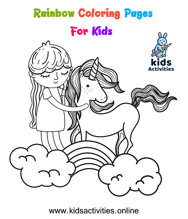 Rainbow Coloring Pages For Kids - Free Printables