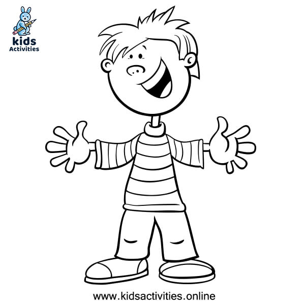 Free printable coloring page for boys