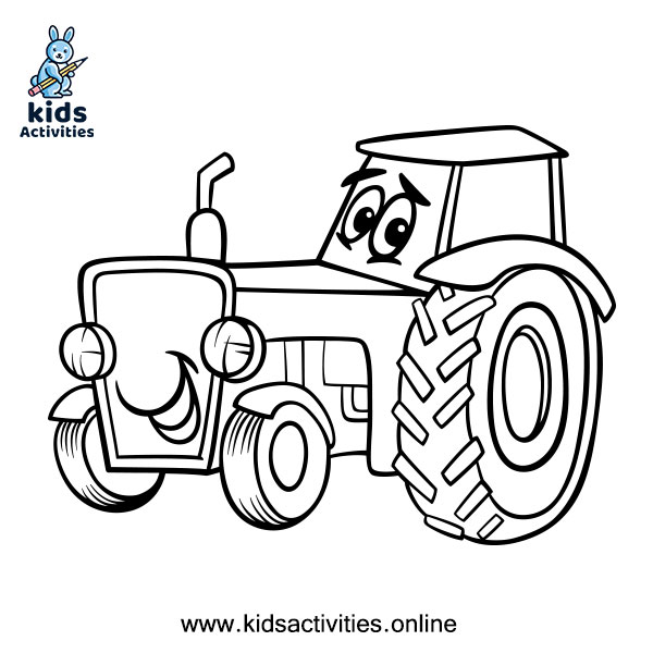 Tractors coloring page - Free printable