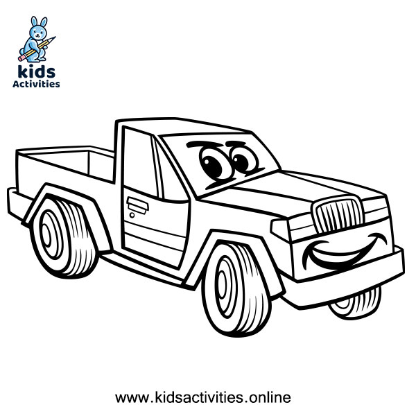 Pickup Truck free Coloring Page