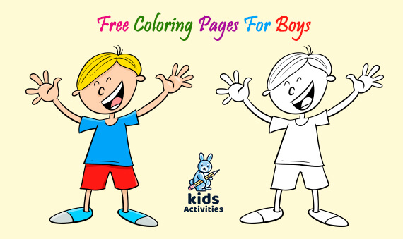 Free printable coloring pages for boy