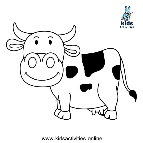 Coloring pages of animals - cow