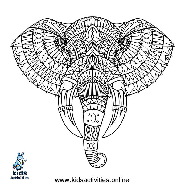 Mandala coloring sheets animals