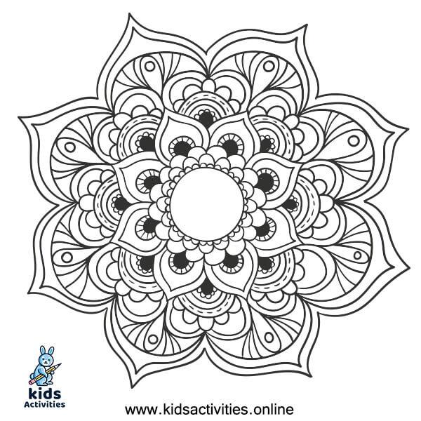 Mandala coloring sheets free printable