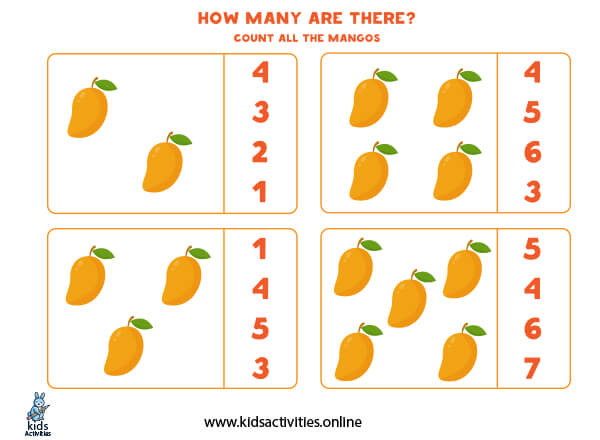 Math games for kindergarten: free preschool math worksheets
