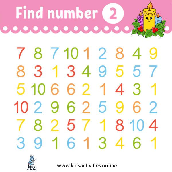 free preschoolnumber worksheets1-10