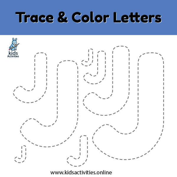 Free Printable Letter-j Tracing Worksheets