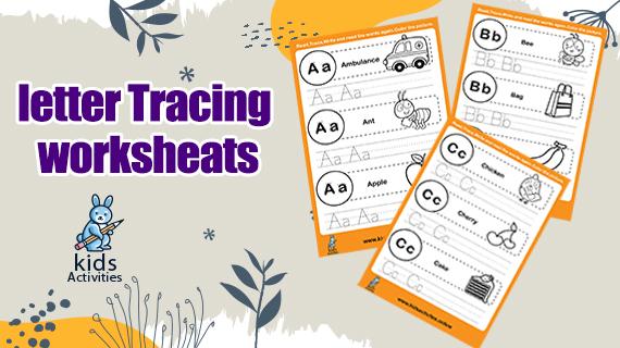 Tracing Letter Worksheets for Kindergarten and Preschool kids
