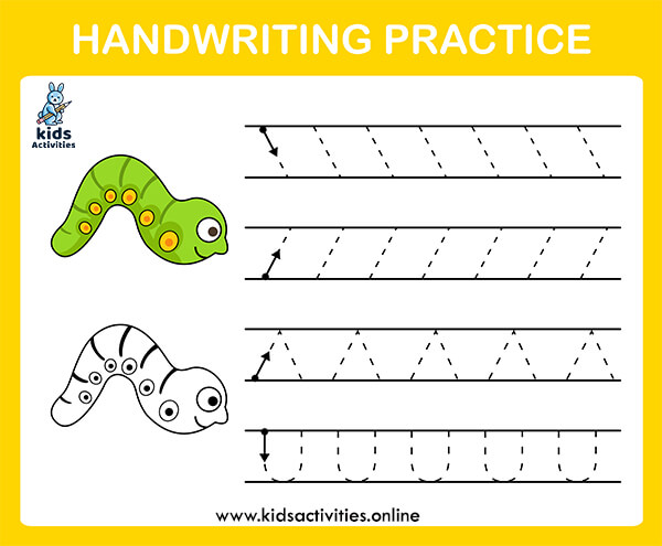 Free preschool line tracing worksheet