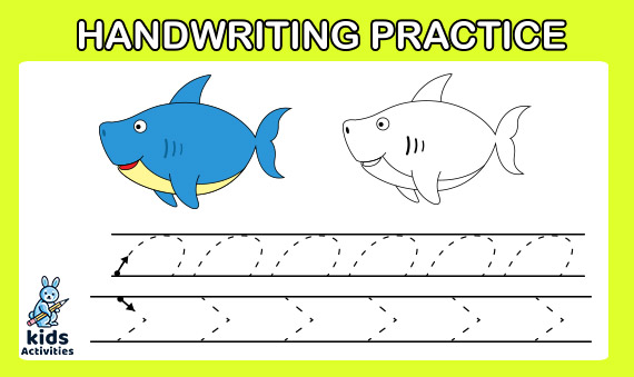 Free printable handwriting practice sheets for kids