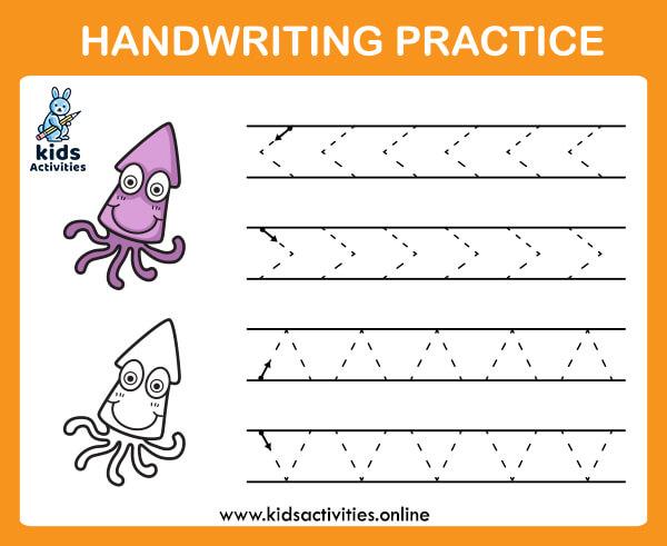 beginning tracing worksheets