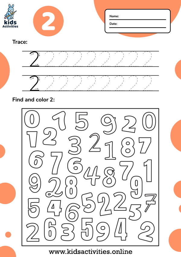free number tracing worksheets 1 10