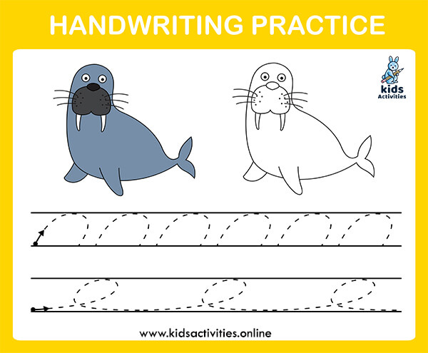 handwriting practice sheets for kids